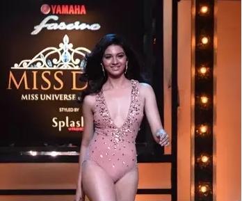 natasha bharadwaj in bikini on ramp
